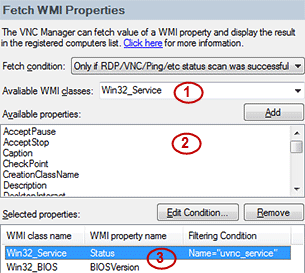 Configure WMI inventory properties