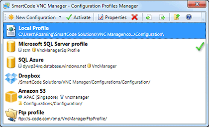 Configuration Profiles Manager