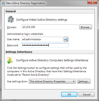 Adding Linked Active Directory