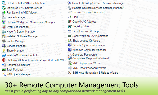 Remote Computer and Network Management Tools