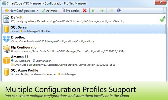 Configuration profiles