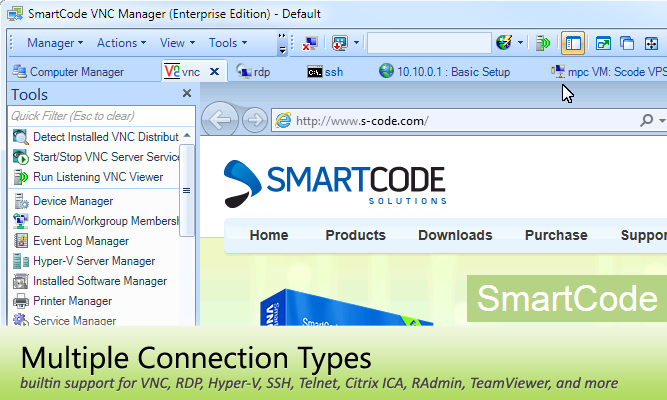 SmartCode VNC Manager Overview - Remote Desktop Management and
